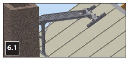 Lobas pipeplattform til båndtekket tak